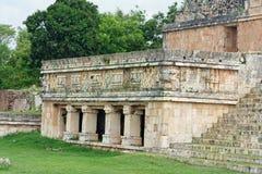 Fachada del templo de Uxmal Fotos de archivo