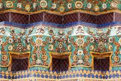 Fachada del templo Wat Pho en Bangkok Foto de archivo libre de regalías