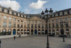 Fachada del vreux del ‰ del ` Ã de HÃ'tel d, lugar VendÃ'me, París, finales de octubre imágenes de archivo libres de regalías