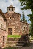 Fachada delantera de la iglesia de Santa Eugenia del Congost Fotografía de archivo