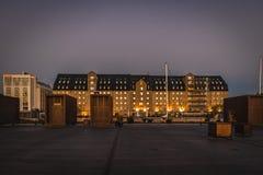 A fachada do almirante Hotel de Copenhaga imagem de stock royalty free