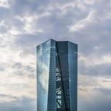 Fachada do BCE no tempo nebuloso Imagem de Stock Royalty Free