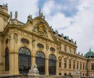 Fachada do Belvedere de Viena imagem de stock