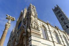 Fachada do domo, Siena, Toscânia, Itália Fotos de Stock Royalty Free