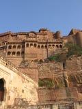 Fachada do forte de Meherangarh, Rajasthan, Jodhpur, India Imagens de Stock
