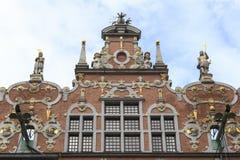 A fachada do grande arsenal em Gdansk, Polônia Fotos de Stock Royalty Free