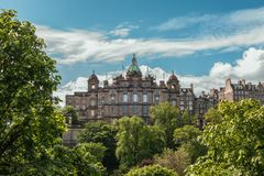 Fachada do grupo de Lloyds Bankign, Edimburgo, Escócia, Reino Unido foto de stock