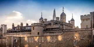 Fachada do leste da torre de Londres Fotos de Stock Royalty Free