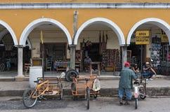 Fachada do mercado principal, Municipal de Mercado em Valladolid México Foto de Stock