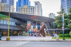 A fachada do museu da mente o 1º de setembro de 2017 em Taguig, Manila, Philipp Fotografia de Stock