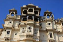 Fachada do palácio da cidade, Udaipur fotos de stock