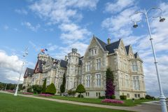 Fachada do palácio da Magdalena em Santander, Espanha Imagem de Stock Royalty Free