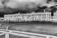 Fachada do palácio do inverno, museu de eremitério, St Petersburg, R Fotos de Stock