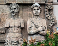 Fachada do Porta Nuova em Palermo, Sicília Imagens de Stock