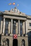 Fachada do salão de cidade de Barcelona. Foto de Stock Royalty Free