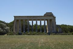 Fachada do teatro grande Nîmes Imagens de Stock