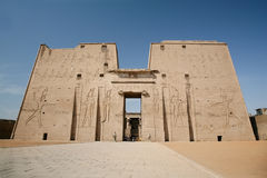 Fachada do templo de Edfu Foto de Stock