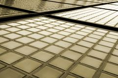 Fachada dos tijolos de vidro Fotografia de Stock