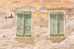 Fachada en Ermoupolis Syros, Grecia Imagen de archivo libre de regalías