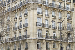 Fachada en París Fotos de archivo