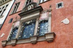 Fachada en Praga imágenes de archivo libres de regalías