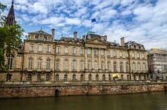 Fachada en verano, Estrasburgo del palacio de Rohan Fotos de archivo