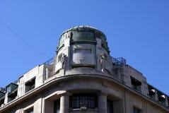 Fachada escultural, casa de Westmoreland em Regent Street, Londres, Inglaterra fotografia de stock royalty free