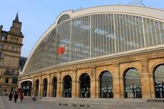 Exterior da estação de comboio da rua do cal de Liverpool Fotografia de Stock