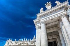 Fachada exterior no quadrado de St Peter, Vaticano Imagem de Stock Royalty Free