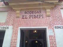 Fachada famosa del EL Pimpi Imagen de archivo