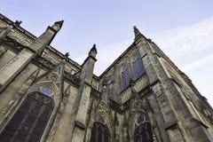 Fachada gótico da igreja Imagem de Stock