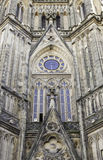 Fachada gótico da igreja Fotografia de Stock