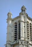 Fachada gótico da torreta da igreja Imagens de Stock Royalty Free