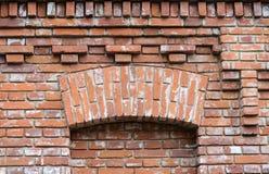 Fachada hermosa del ladrillo del edificio Imagen de archivo libre de regalías