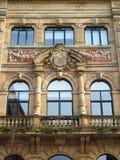 Fachada hermosa en San Sebastian, España fotos de archivo libres de regalías