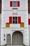 Fachada histórica de la torre de la puerta Foto de archivo