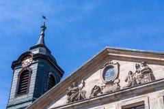 Fachada histórica en la ciudad de Bayreuth Imágenes de archivo libres de regalías