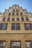 Fachada histórica no mercado central de Bielefeld Imagem de Stock Royalty Free