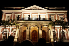 Fachada imperial do museu em a noite - Petropolis Foto de Stock