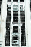 Fachada industrial destruída Demolished filtrada da ruína fotografia de stock