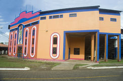 Fachada Karen Tucker Baseball Stadium 2016 en la isla de maíz grande, Ni fotos de archivo