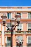 Fachada, lámpara, obturador - Mónaco Fotos de archivo
