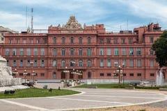 Fachada la Argentina de la parte posterior de Rosada de la casa Imagen de archivo