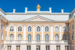 Fachada magnífica del ornamento del palacio Imágenes de archivo libres de regalías