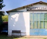 Fachada mecánica del garaje del coche Foto de archivo libre de regalías