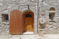 Fachada medieval da casa Fotografia de Stock