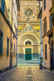 Fachada medieval da igreja da catedral do domo de Orvieto. Itália Imagem de Stock Royalty Free