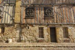 Fachada medieval de la casa Imagen de archivo libre de regalías