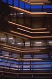 Fachada moderna en la hora azul Imagen de archivo libre de regalías