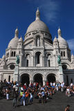 Fachada Monmarte Paris de Sacre Coure imagens de stock